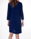 Marcos Royal Blue Knit Dress w Patches