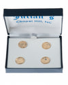 UNC Seal Gold Plated Rimmed Studs