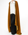 Honey Royal Silk Velvet Cape