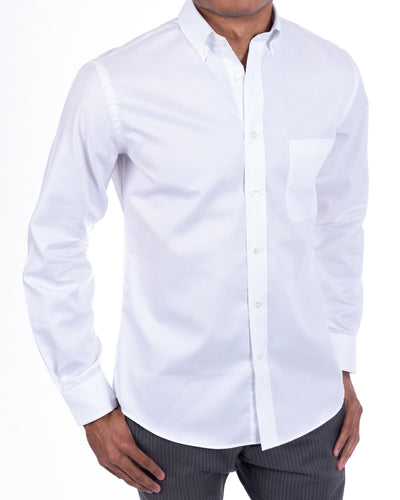 True Blues White Button-Down Oxford Shirt
