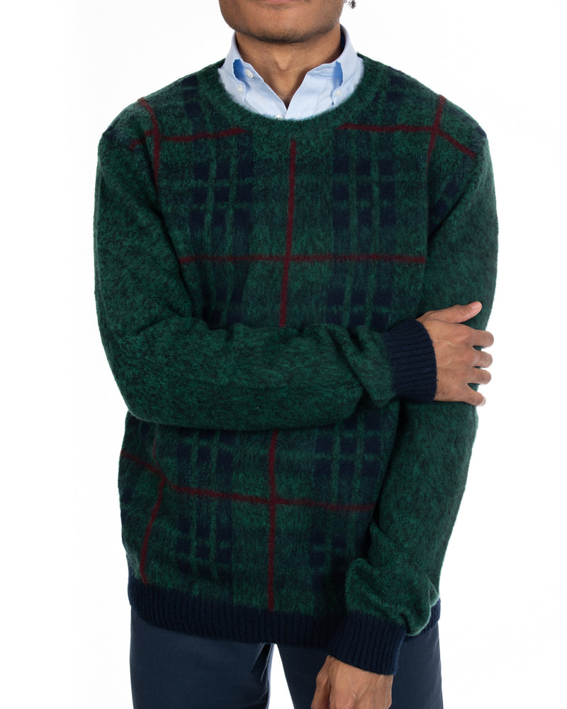 Flippo Virgin Wool Tartan Sweater