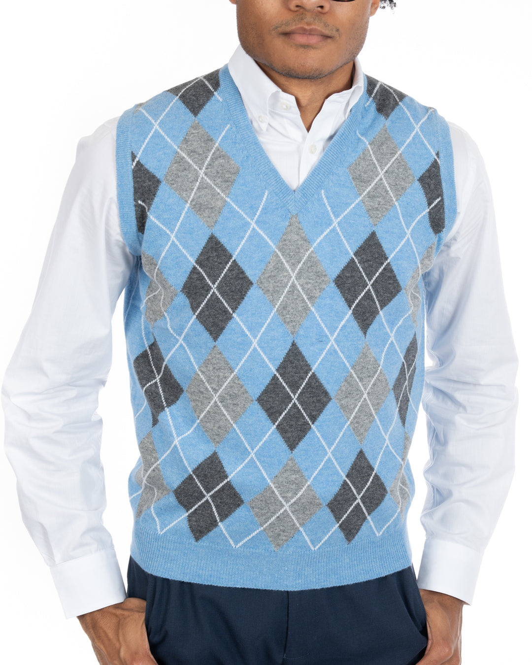 Argyle Geelong Lambswool Sweater Vest