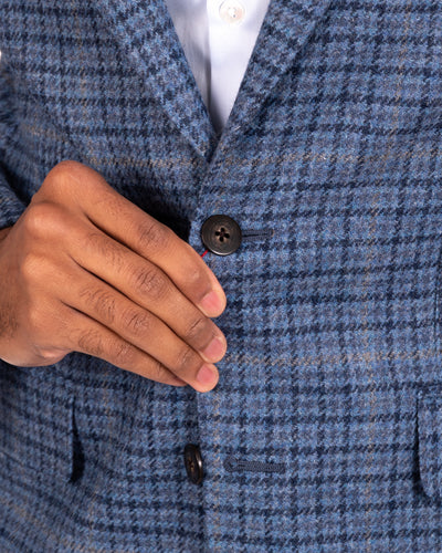 Tonal Houndstooth Windowpane Sportscoat