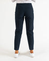 Navy side zip pant
