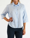 Light Blue Cropped Blouse