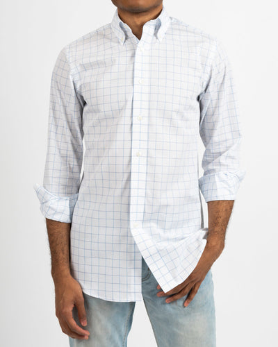 Lt.Blue/Grey Tattersall Buttondown Collar Shirt