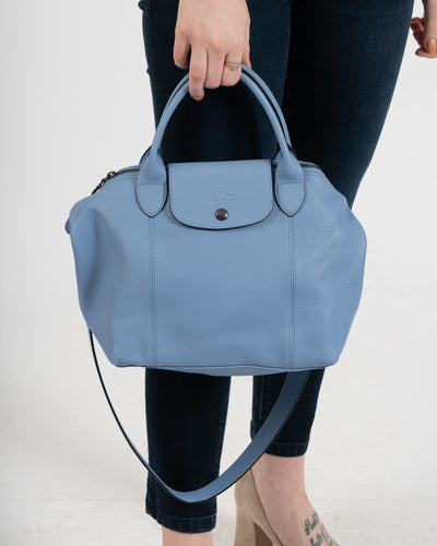 Carolina Blue Cuir Small Handbag