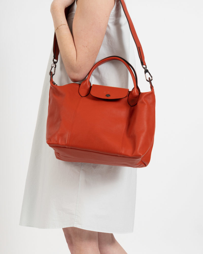 Cuir Medium Shoulder Tote