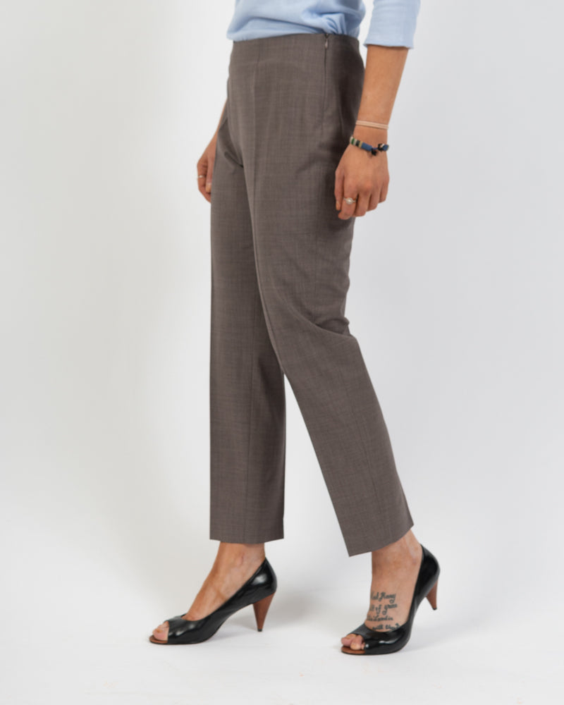Piazza Sempione Side Zip Melange Trouser