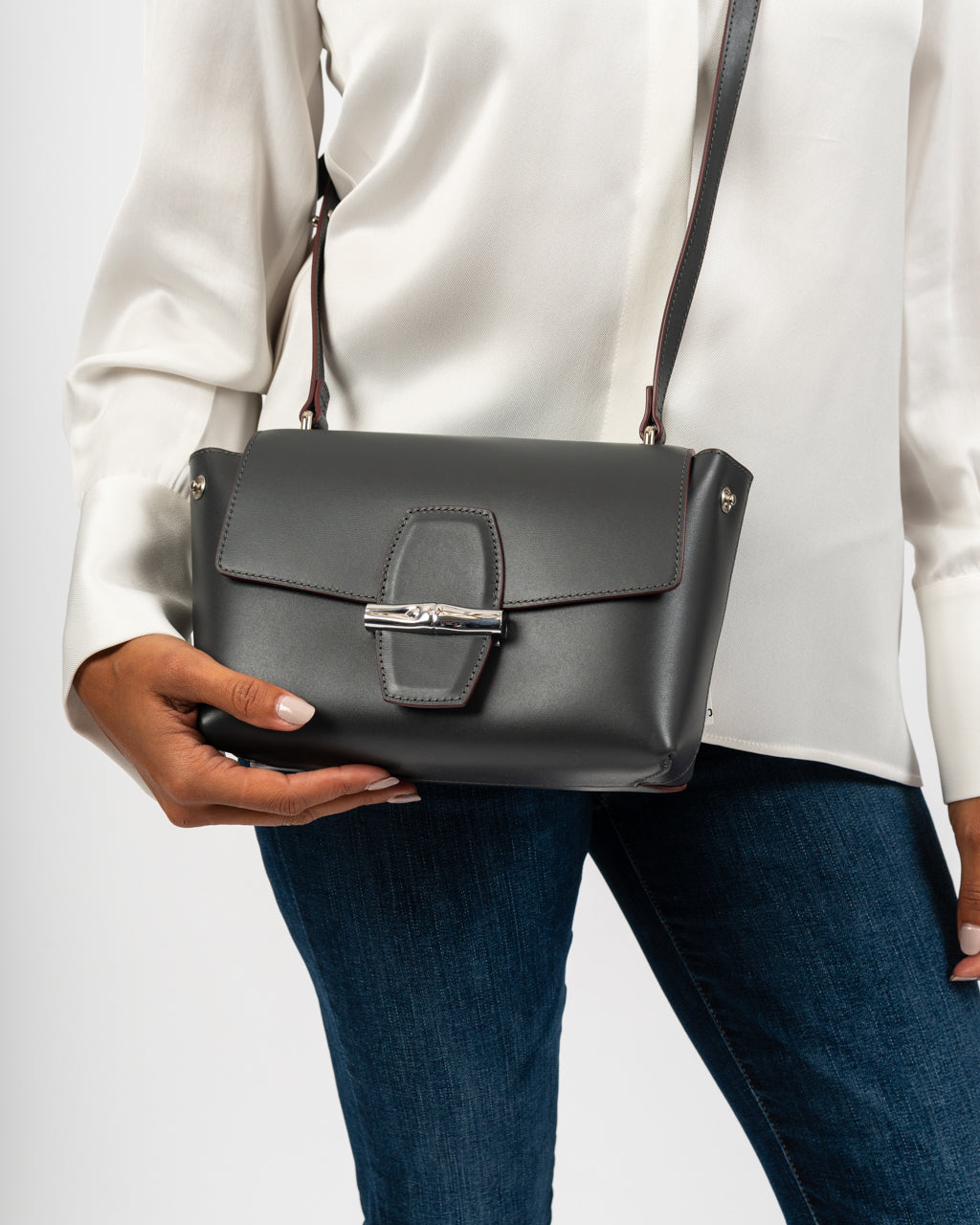 Roseau Box Cross Body Gun Metal