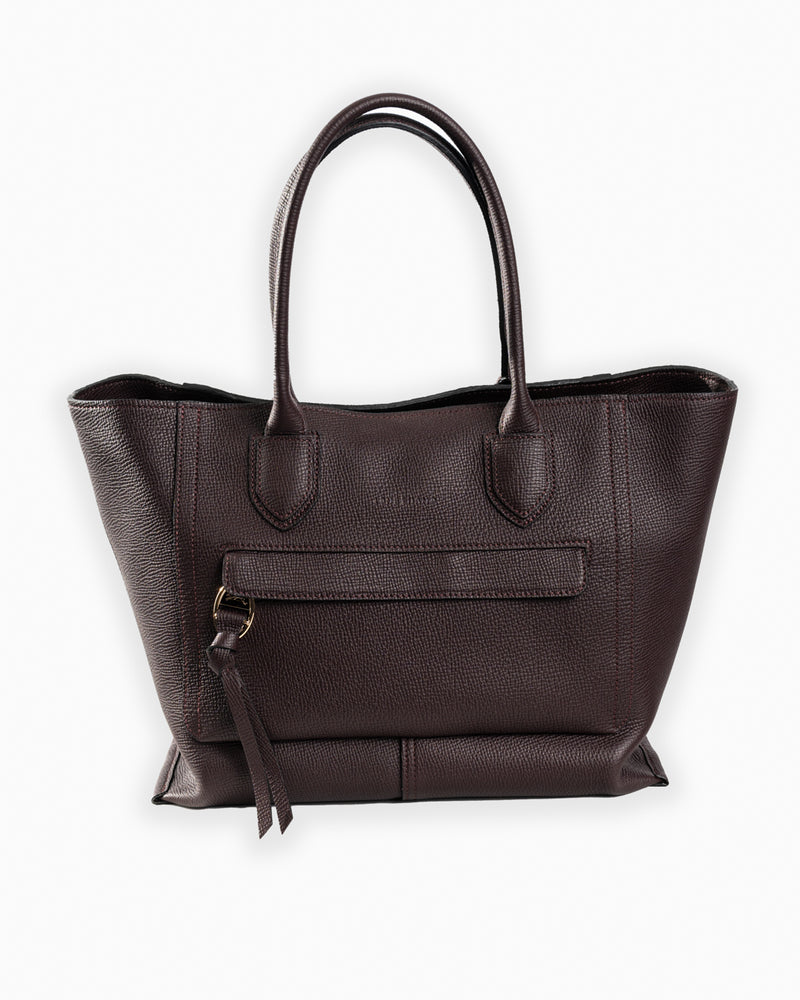 Mailbox Top Handle Bag Aubergine