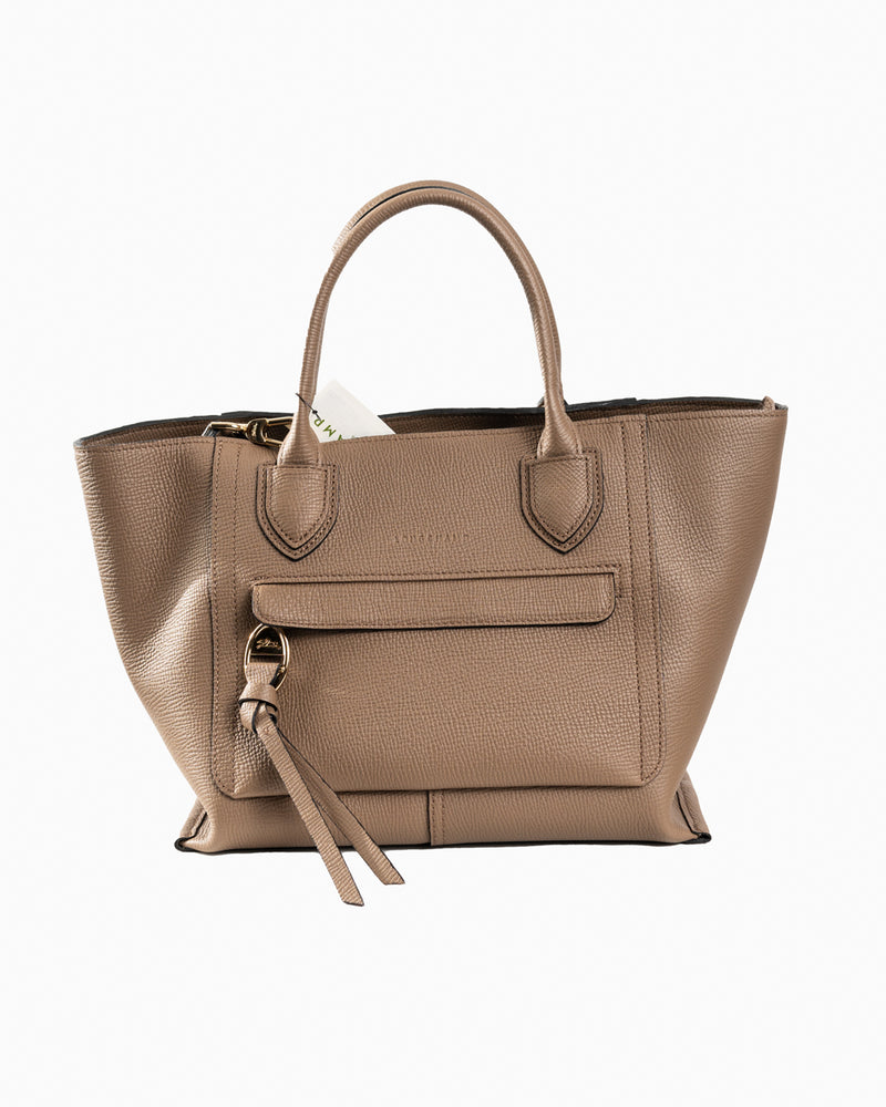 Mailbox Top Handle bag Taupe