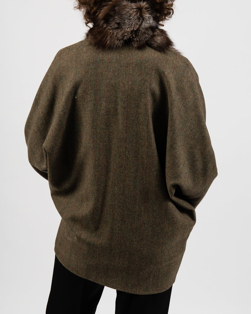 Rubens Tweed Fur Cape