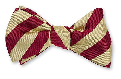 Old Gold & Maroon Bar Stripe Bowtie