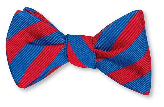 Royal Blue & Scarlet Bar Stripe Bowtie