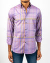 Purple Tartan Plaid Shirt