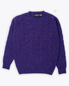 Royal Purple Cable Shetland Sweater