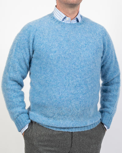 Carolina Blue Shaggy Shetland Sweater