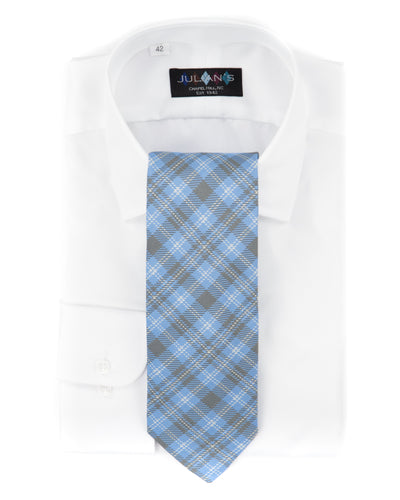 Glen Plaid Bias Necktie