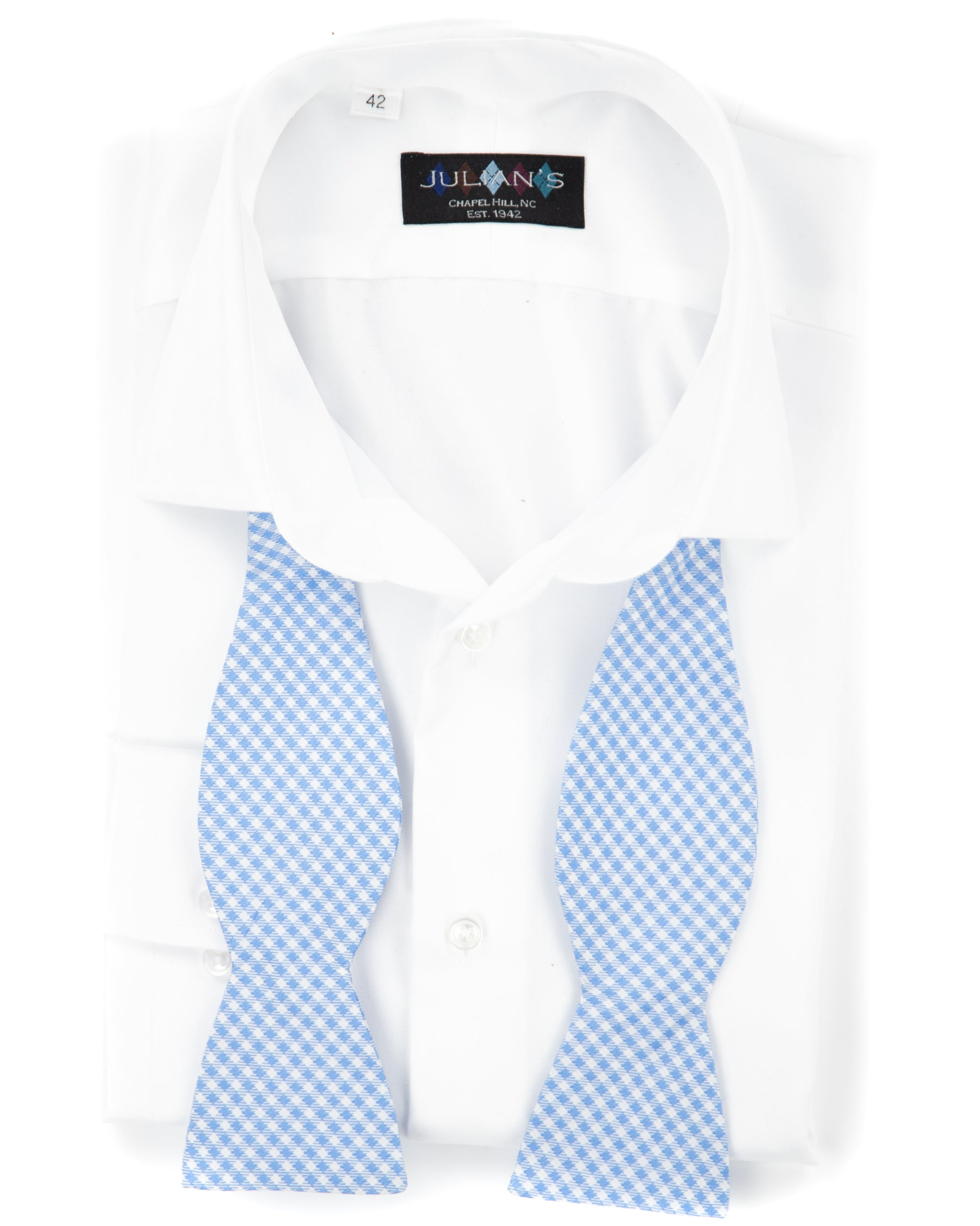 True Blues Gingham Bow Tie