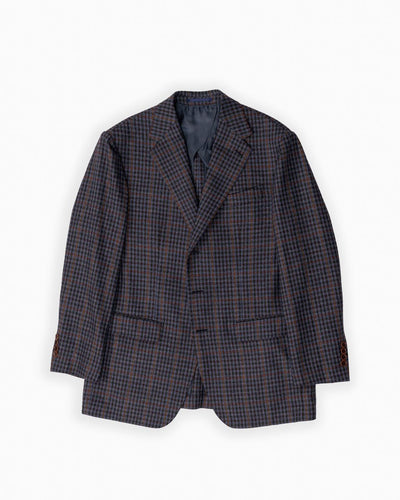 Wool & Silk Fall Guncheck Sportcoat