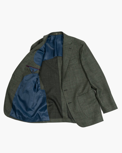 Loro Piana Olive Wool Silk and Linen Sportcoat