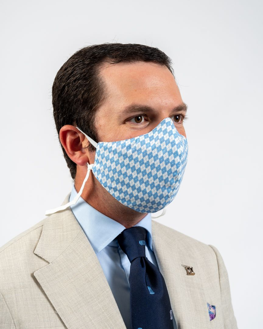 Argyle Face Mask