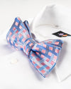 Roy's Pink Windowpane Stripe Bowtie