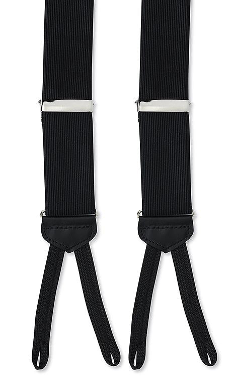Black Silk Faille Formal Braces
