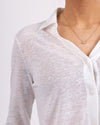 Linen Knit Long Sleeve Shirt
