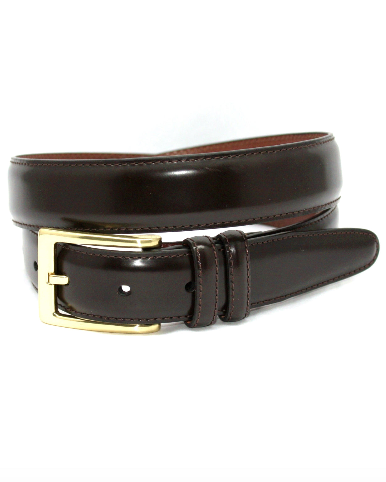 Antigua Leather Stitched Edge Dress Belt
