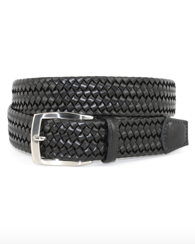 Italian Suede Braided Stretch Belt