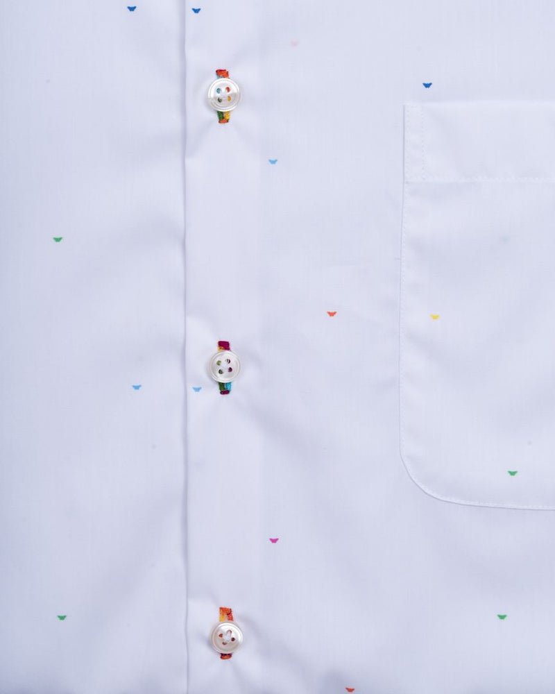 White Butterfly Dot Shirt
