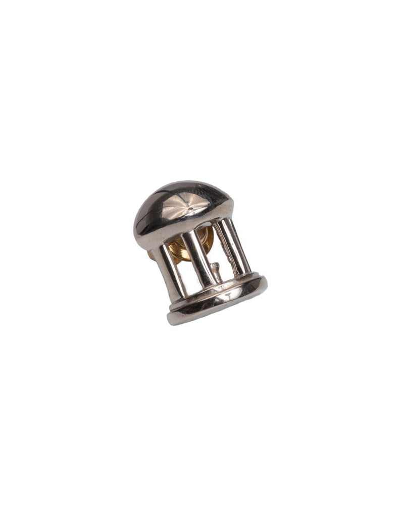 Old Well Lapel Pin White Gold