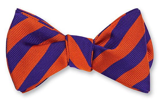 Orange & Purple Bar Stripe Bowtie