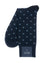 Navy Diamonds Contrast Heel Sock