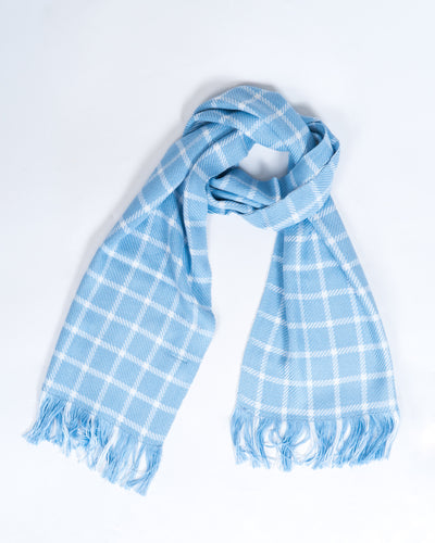 True Blues Bamboo Windowpane Scarf