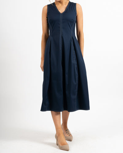 Mapo Top Stitch Balloon Dress