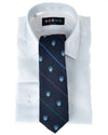 Navy Club Repp Stripe Necktie