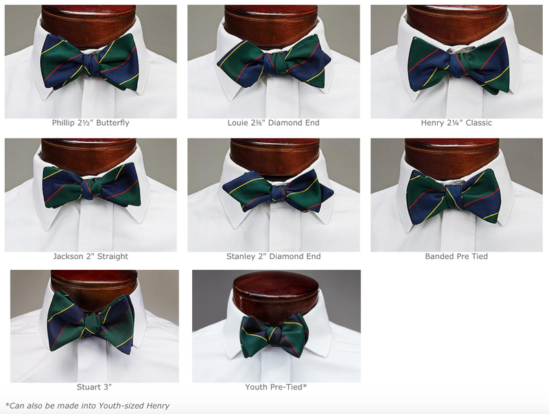 Navy & Silver Bar Stripe Bowtie