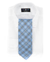 Extra Long Glen Check Bias Plaid Necktie