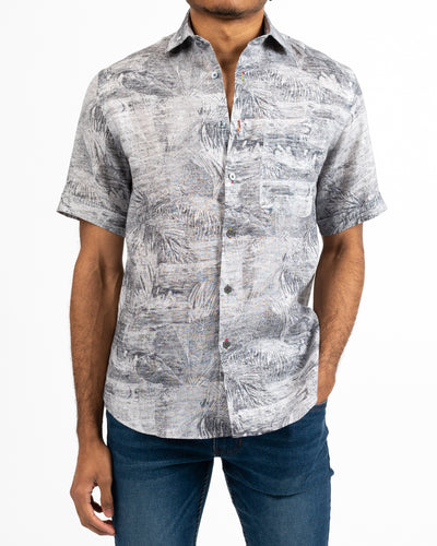 Black and White Sun Safari Shirt