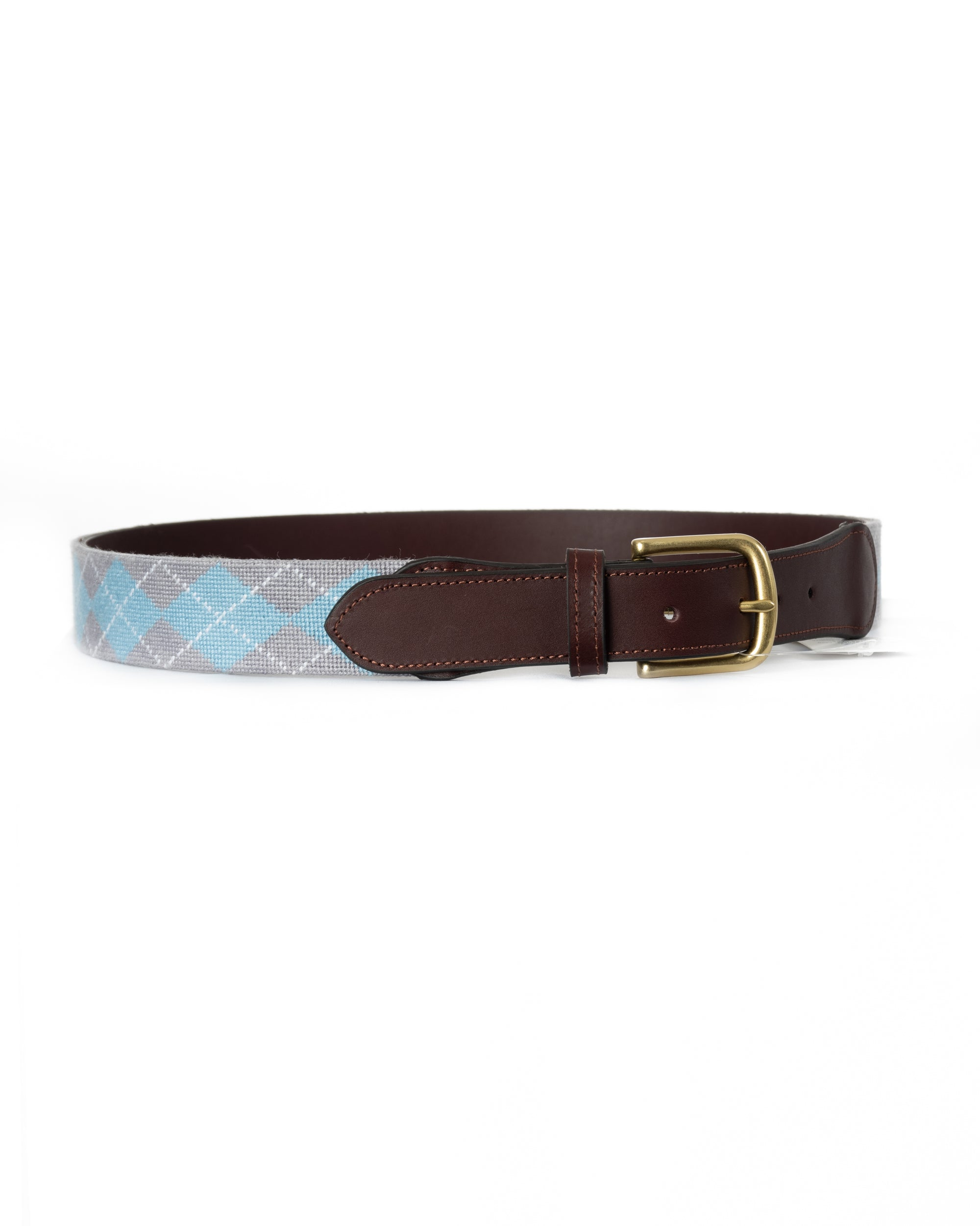 Handmade Argyle Needlepoint Belt