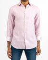 Dusty Rose Jet Print Linen Shirt