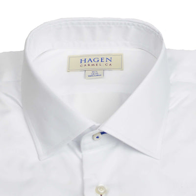 White Micro Twill Dress Shirt