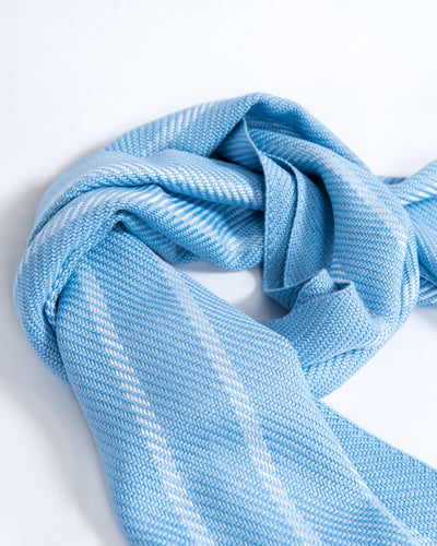 True Blues Stripe Bamboo Scarf