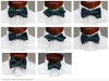 Navy & Green Bar Stripe Bowtie
