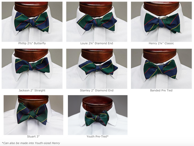 Navy & Scarlet Bar Stripe Bowtie