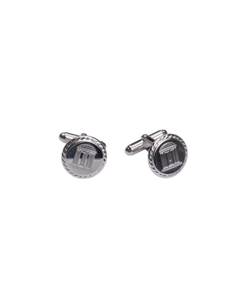 Old Well Sterling Silver Rope Edge Cufflinks