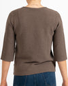 Basket Weave Cotton Sweater